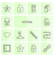 14 system icons vector image vector image