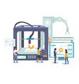 3d printing technology concept for web vector image vector image