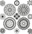 A set of mandalas vector image vector image