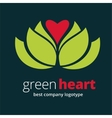 Abstract nature logotype with heart isolated on vector image vector image
