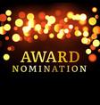 award nomination background golden film movie