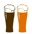 beer glasses with foam vector image vector image