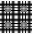 Black and white checkered geometric pattern vector image vector image