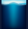 blue ocean with waves and bubbles vector image vector image