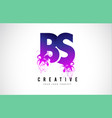bs b s purple letter logo design with liquid vector image vector image