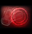 camera on red vector image vector image