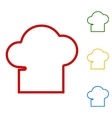 Chef cap sign Set of line icons vector image vector image