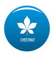 chestnut leaf icon blue vector image
