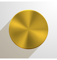 circle metal icon on gray background Eps10 vector image vector image