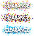 Clearance colour banners set vector image vector image