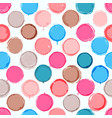 colorful hand drawn pattern of circles vector image vector image