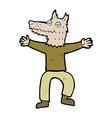 comic cartoon wolf man vector image vector image