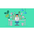 Creative Tech Workspace vector image