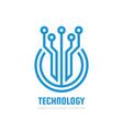 digital technology - logo template vector image