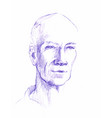 drawing of man face the head vector image vector image