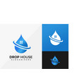 drop house logo design modern logo designs vector image vector image