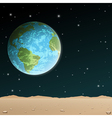 Earth Rise vector image vector image