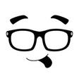 face emoji with sunglasses kawaii character vector image