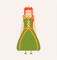 fairy tale royalty princess isolated female vector image vector image