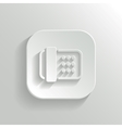 Fax machine icon - white app button vector image