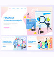 financial statements business solutions banners vector image vector image