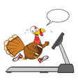 football turkey bird cartoon character running vector image vector image