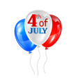 fourth july independence day greeting card vector image vector image
