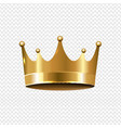 golden crown isolated transparent background vector image vector image