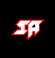 ia logo design initial ia letter design vector image vector image