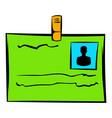 identification card icon icon cartoon vector image vector image