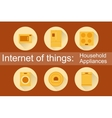 Internet of Things Household Appliances 6 icons vector image vector image