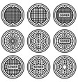Manhole sewer cover black symbol