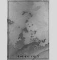 map monument valley arizona elevation vector image
