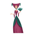 medieval kingdom character isolated princess in vector image