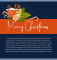 merry christmas winter holiday concept symbolic vector image