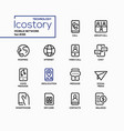 mobile network - modern line design style icons vector image