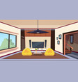 modern living room interior with bean bag chairs vector image vector image