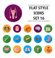 organs set icons in flat style big collection vector image vector image