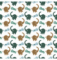 pattern with elephants vector image