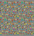 pattern with people 8 bit style old games