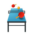 pingpong or table tennis isolated icon sport game vector image