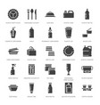 plastic packaging disposable tableware vector image vector image