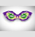 polygonal mask mardi gras vector image
