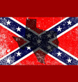 rebel civil war flag vector image vector image