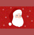 santa claus on vivid background vector image