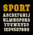 serif font in sport style with contour vector image vector image