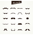 Set of mustaches isolated vector image vector image
