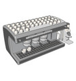 simple on white background an espresso machine vector image vector image