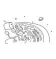 sketch astronaut man robot alien character on vector image vector image