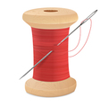spool thread needle vector image vector image